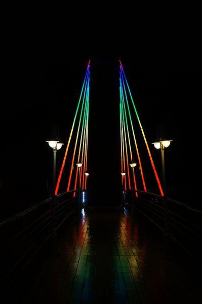Brücke in Costa Adeje Teneriffa van Iwona Sdunek alias ANOWI