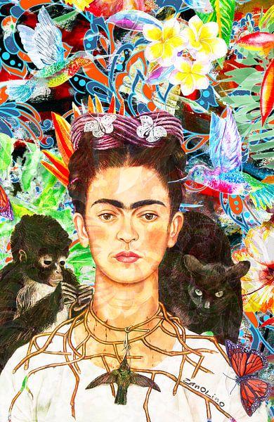 Frida Kahlo-Porträt von Giovani Zanolino von Giovani Zanolino