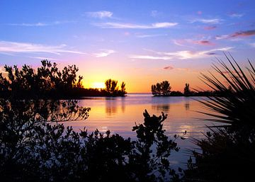 Zonsondergang in Florida van Ina Hölzel