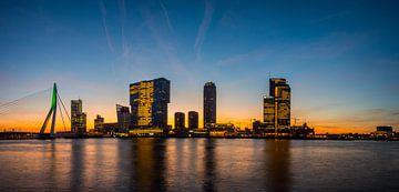 Skyline Rotterdam in the morning van Eddie Visser