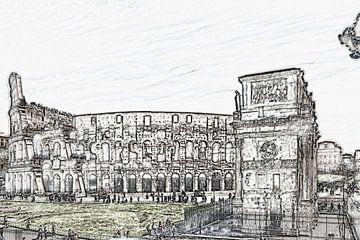 Colosseum Rome, Italië van Gunter Kirsch
