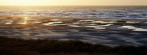 Zonsondergang Terschelling van Christiaan Krouwels
