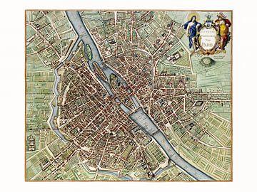 Karte Paris - 1657