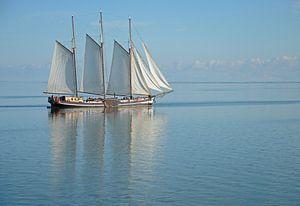 Zeilboot op Ijsselmeer van