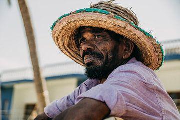 Portret van een authentieke Sri Lankaanse visser van Art Shop West