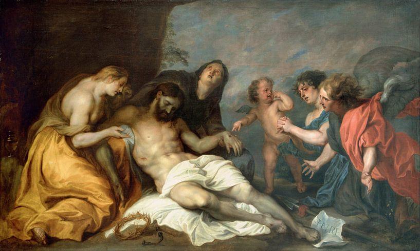 Klage über den Toten Christus, Anthony van Dyck von Meesterlijcke Meesters