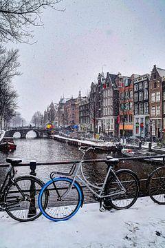 Hiver d'Amsterdam Oudezijds Voorburgwal sur Hendrik-Jan Kornelis
