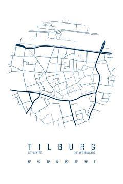 Stadskaart Tilburg van Walljar