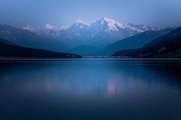 Ortler am Reschensee im Abendlicht von Erwin Stevens