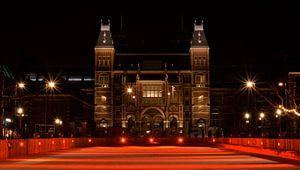 Patinoire rouge du Rijksmuseum - Amsterdam, Pays-Bas