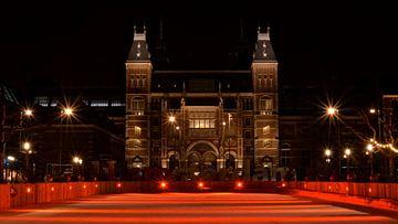Rode Schaatsbaan van het Rijksmuseum - Amsterdam, Nederland van Be More Outdoor