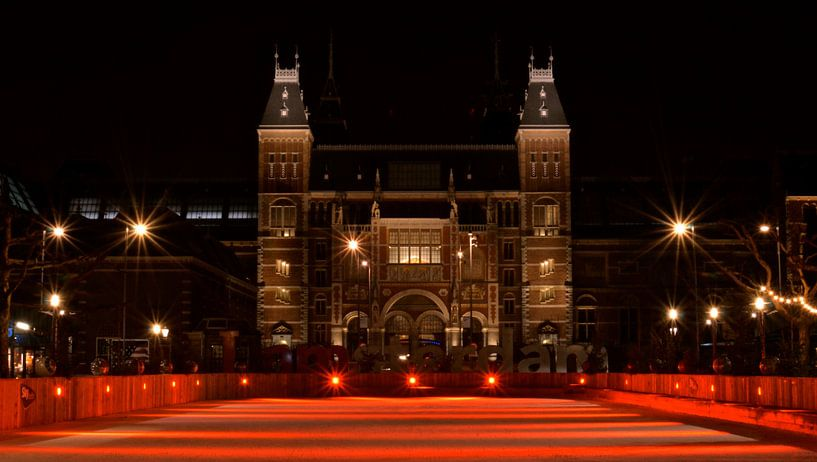 Patinoire rouge du Rijksmuseum - Amsterdam, Pays-Bas sur Be More Outdoor
