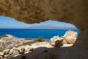 Doorkijk in Matala van