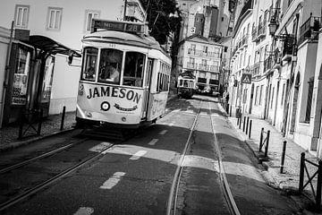Tram 28 Lissabon von