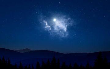 Nacht-Landschaft von Pieter van Roijen
