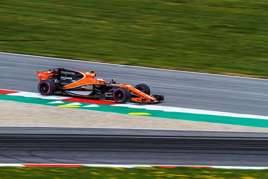 Stoffel Vandoorne in actie tijdens de Grand-Prix van Oostenrijk 2017