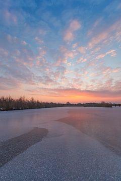 Zonsopgang in de winter van Thijs Friederich