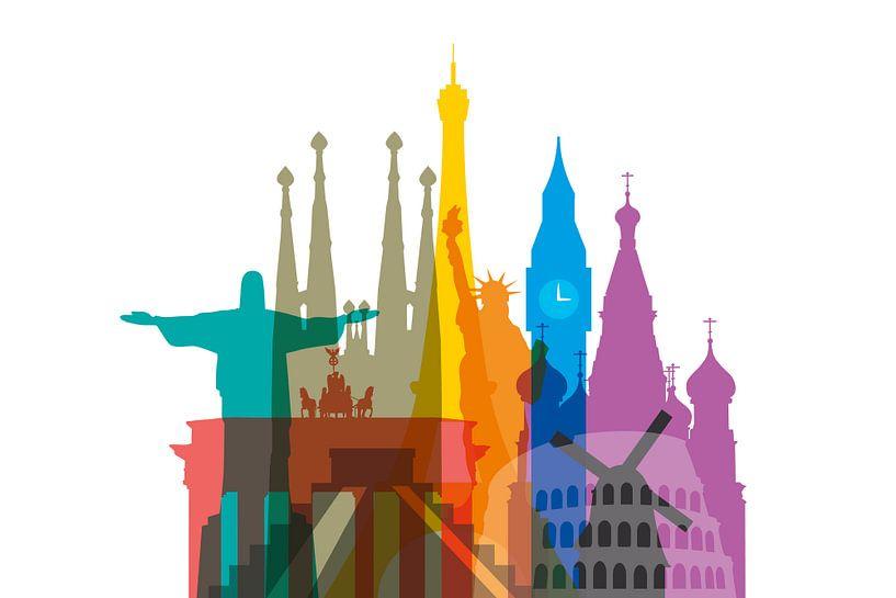 Colorful World van Harry Hadders