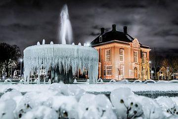 winter plaatje fontein hoofddorp van Ralph Jaspers