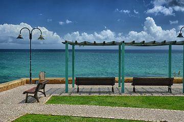 Praia da Luz strandpromenade van Iris Heuer