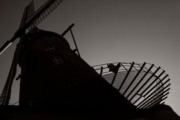Kazandmill im Abendlicht von Cathfish photography by Cathie Lefieuw