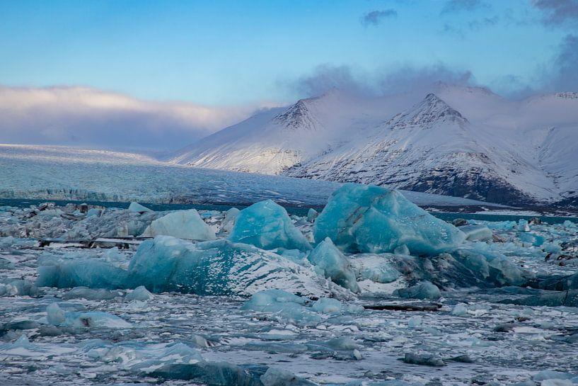 Landschaft Island, Jökulsárlón und Diamond Beach von Gert Hilbink