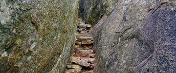 stenen trap van