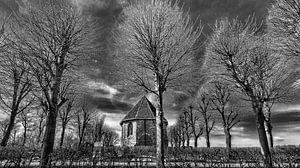 Het kerkje van Jelsum op de terp