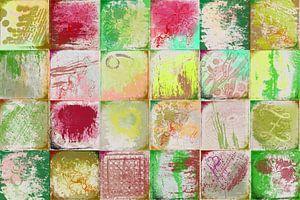 Collage met geel en groen van