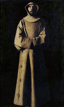 Franziskus von Assisi nach der Vision von Papst Nikolaus V., Francisco de Zurbarán