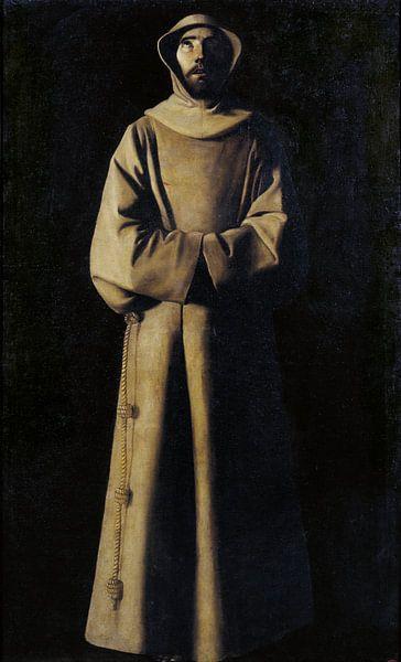 Franziskus von Assisi nach der Vision von Papst Nikolaus V., Francisco de Zurbarán von Meesterlijcke Meesters