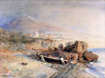 Fischerboot wird überholt, OSWALD ACHENBACH, um 1880 von Atelier Liesjes
