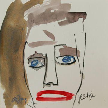 Sylvia, portret, avatar von Leo de Jong