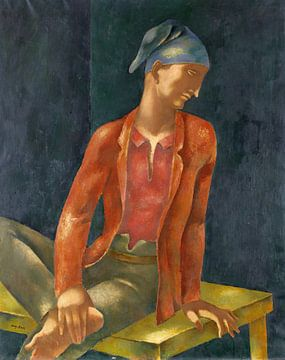 Junger Mann mit blauer Kappe, EUGENIUSZ ZAK, Um 1923 von Atelier Liesjes