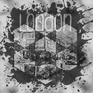Graphic Art LONDON Streetscene   monochrome