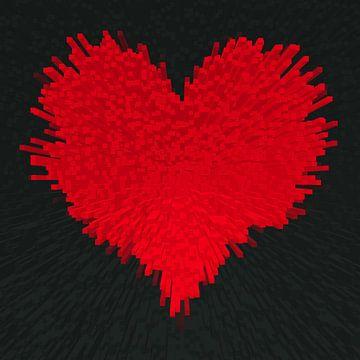 Herz , 3D Blocks  van Marion Tenbergen