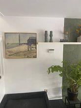Klantfoto: De vuurtoren in Honfleur, Seurat, op canvas