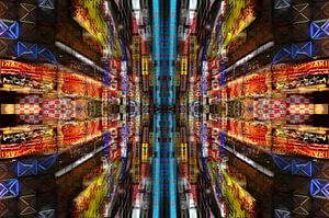 Mandala Stadtlichter von Bram Busink