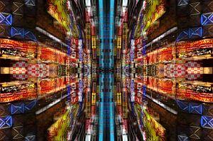 Mandala van stadslichten van