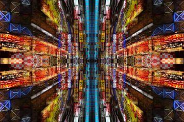 Mandala van stadslichten van Bram Busink