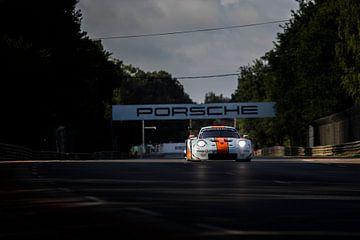 Gulf Racing UK Porsche 911 RSR, 24 uur van Le Mans 2019 van Rick Kiewiet