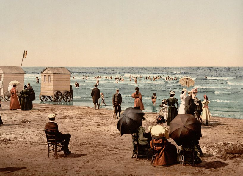 The Blankenberghe, baigneurs van Vintage Afbeeldingen