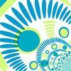 Digital abstrakt blau und grün mit punkten van Rosi Lorz thumbnail