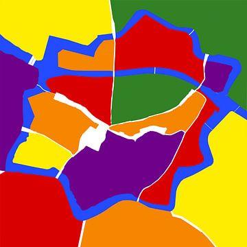 Zwolle aux couleurs de l'arc-en-ciel sur Walter Frisart