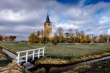 Kerktoren op een terp van Jaap Terpstra