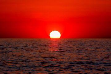 Zonsondergang, Kreta, Griekenland van Maarten Kost