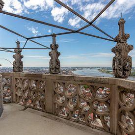 Blick von der Kathedrale von Antwerpen: Die Beziehung und die Schelde von Martijn Mureau