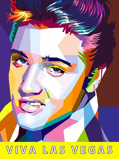 Pop Art Elvis Presley van Jan Willem van Doesburg