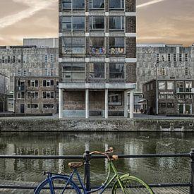 Blaues Fahrrad, grünes Fahrrad. von Pieter van Roijen