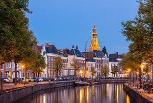 Hoge der A Groningen bij Avond